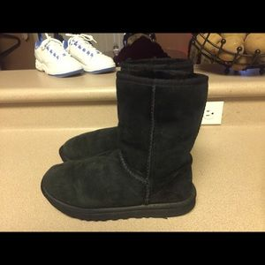 PreOwned UGG Classic Short Black Boots Women's 8